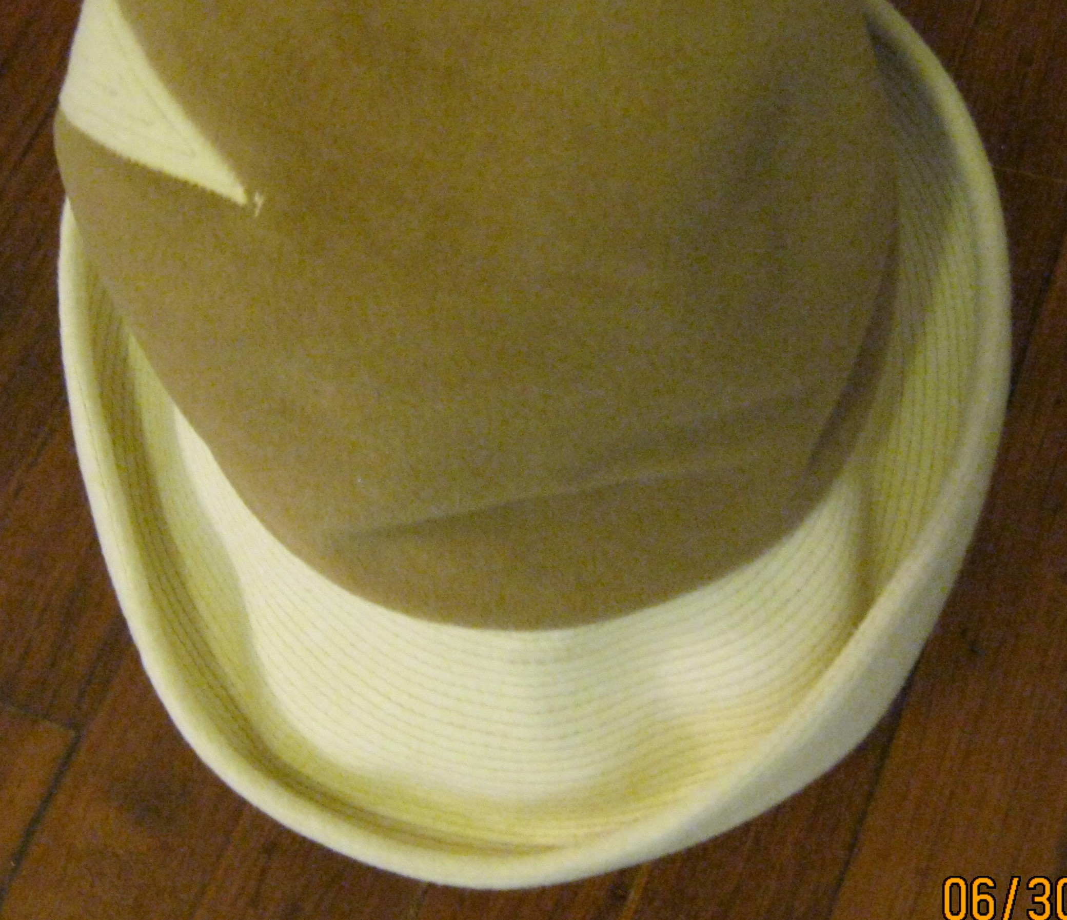 Brown and white hat (2)